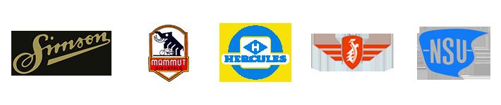 Simson - Hercukles - Mammut - Sachs - NSU - Logos